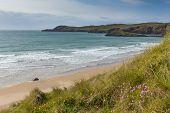 Pembrokeshire coast Whitesands Bay St Brides Bay West Wales UK