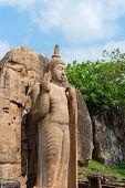 Avukana Standing Buddha Statue, Sri Lanka.