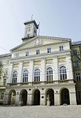 Town Hall Building In Lvov