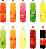 Isolated Carbonated Drinks Set
