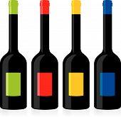 Isolated Balsamic Vinegar Bottles Set