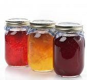 Selbstgemachte Marmelade und Marmelade In die Gläser