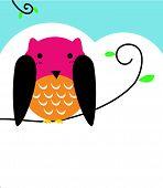 Illustration of wise Owl bird
