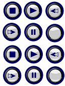 Blue-themed Buttons