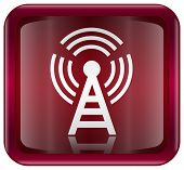 Wi-fi Tower Icon Red