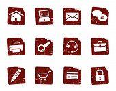 Grunge Web Icon Set