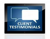 Tablet Client Testimonials