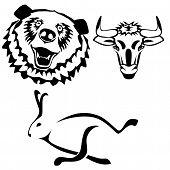 Characters hare bull bear