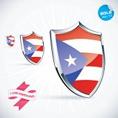 I Love Puerto Rico Flag Illustration