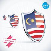 I Love Malaysia Flag Illustration
