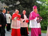PIEKARY SLASKIE, POLAND - MAY 26: Cardinal Dominik Duka primate of the Czech Republic