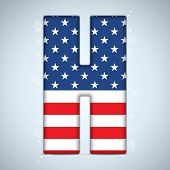Usa Independence Day Alphabet Letters