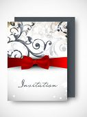 Beautiful floral decorated invitation card.