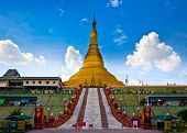 Uppatasanti pagoda in Naypyidaw city (Nay Pyi Taw), capital city of Myanmar (Burma).