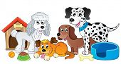 Image with dog topic 4 - eps10 vector illustration.