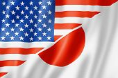 Usa And Japan Flag