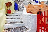 colors of Santorini series - pictorial detail of Oia village