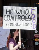 PENSACOLA, FL - 25 MAY: Protesters rally in Pensacola, FL on May 25, 2013 in support of the worldwide
