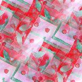 art red, green avant-garde background hand paint seamless wallpa