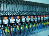 stock photo of assembly line  - Industrial electrical equipment - JPG