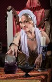Exotic Woman With Crystal Ball