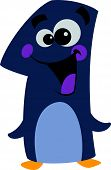 Number 1 Smiley Face cartoon Penguin