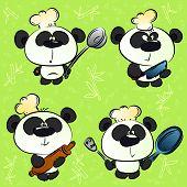 accesorios de chef y cocina de Panda