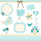 Baby boy design elements