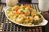 Shrimp Scampi And Linguini
