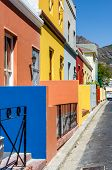 stock photo of tourist-spot  - The Colourful Bo Kaap situated in Cape Town in the Western - JPG