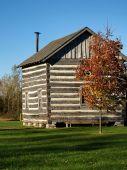 Log Cabin In Autumn