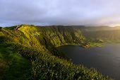 Lagoa Azul, See in einem Krater, Archipel der Azoren (Portugal)