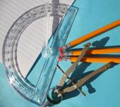 Compass, Protractor & Pencils