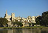 Medieval city and Popes Palace in Avignon, France