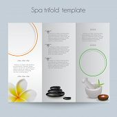 Tri-fold&Spa Brochure&Mock Up