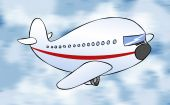 Cartoon Passenger Jet