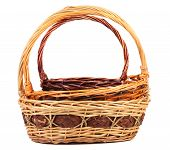 Vintage weave wicker baskets