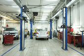stock photo of turn-up  - Image of a car repair garage - JPG
