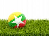 Football With Flag Of Myanmar