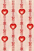 Hanging  Candy- Stripe Hearts