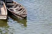 Wooden Boat Or Canoes.