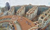 MOSCOW, RUSSIA - NOV 14, 2013: (view from unmanned quadrocopter) Part of Residential complex Italian