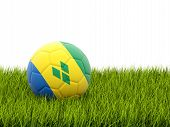 Football With Flag Of Saint Vincent And The Grenadines