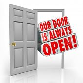 Our Door is Always Open Words Invitation Welcome