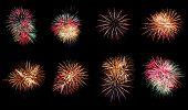 Mischen Sie Fireworks oder Feuerwerkskörper.