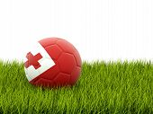 Football With Flag Of Tonga