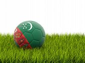 Football With Flag Of Turkmenistan