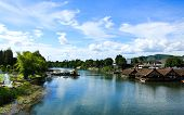 Beautiful River Kwai In Kanchanaburi Province, Thailand