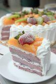 Ice Cream Fruit Cake.
