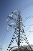 image of electricity pylon  - Large UK National Grid electricity power pylon - JPG